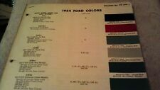 1954   ford    color chip chart