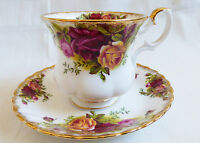 Royal Albert England Bone China Old Country Roses Demitasse Coffe Cup saucer set