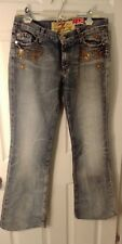 7 For All Mankind Women's The Great Wall Of China Embroidered Jeans Sz 31X31