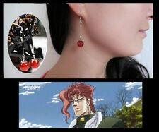 Anime 925 silver agate Earring.JoJo's Bizarre Adventure.Kakyoin Noriaki.Cosplay