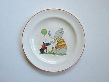 Vintage Salem China child's plate elephant balloon Scottie dog nursery decor