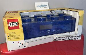 LEGO Blue Brick BoomBox AM/FM Radio CD Player Corded/Battery Stereo Music Kids