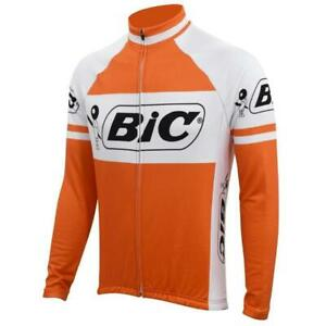 Retro 1973 Team Bic Long Sleeve Vintage Cycling Jersey