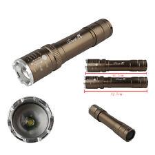 12w Xm-l T6 2000lm LED Zoomable Mini Flashlight Torch Lamp 18650