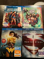 DC Blu Ray lot WONDER WOMAN SUICIDE SQUAD (3D) SUPERMAN JUSTICE LEAGUE