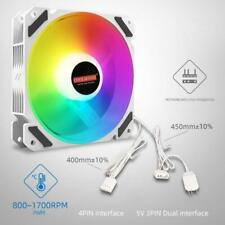Coolmoon 120mm PWM ARGB PC Case Fan Quiet 4 Pin RGB Cooling Fan for CPU Computer