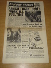 MELODY MAKER 1956 JUNE 9 FREDDY RANDALL LIONEL HAMPTON LOUIS ARMSTRONG +