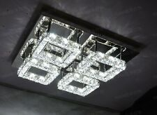 Modern 4 square LED 3Side Crystal Pendant Lamp Diamond shining Ceiling Light