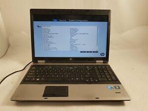HP ProBook 6550b Intel i5-450M 6GB RAM No HDD Bad Keyboard & Battery