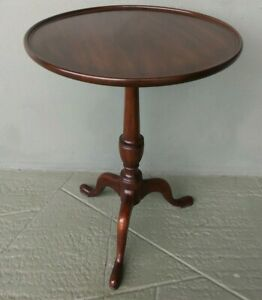 HENKEL HARRIS VIRGINIA GALLERIES SIGNED MAHOGANY WOODEN ACCENT SIDE TABLE