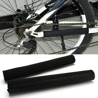 Sale Black Bike Bicycle Cycling Frame Chain Stay Protector Cover Guard Sale SH