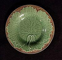 J. Willfred / Charles Sadek Majolica Style Plate With Leaf - Portugal