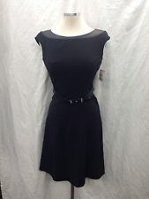 "Anne Klein Dress /new with tag/size 8/black/retail$139/LENGTH 37"":/cap sleeve"