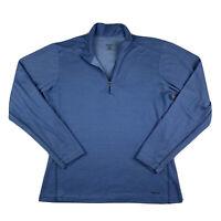 Patagonia Women Large Capilene 1/4 Zip Long Sleeve Mock Neck Jacket Top Blue