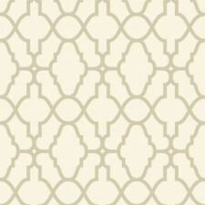 CREAM / GOLD CASABLANCA TRELLIS FRETWORK WALLPAPER - RASCH 309317 NEW