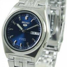 Seiko 5 Automatic Mens Watch Blue Dial See Through Back SNK647K1 UK Seller