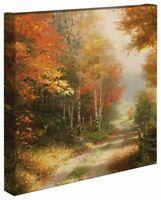 Thomas Kinkade Studios A Walk Down Autumn Lane 14 x 14 Canvas Wrap