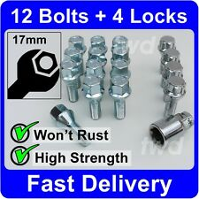 16 x ALLOY WHEEL BOLTS & LOCKS FOR FORD ESCORT MK3/MK4/RS TURBO S1/S2 NUTS [H3b]