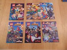 5 X LEGO MARVEL DC SUPER HEROES MINIFIGURE COMICS. BUNDLE, COLLECTION, JOB LOT