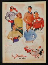 8 VINTAGE REPRO Sweaters Jantzen ADVERTISING REPRODUCTION POSTCARD