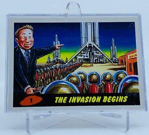 2021 TOPPS MARS ATTACKS INVASION 2026 ELON MUSK COMPLETE 10 CARD SET PR 1044