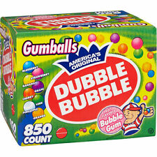 Extra Large Box Dubble Bubble Assorted Fruit Gumballs (850 ct.)  Chewing Gum