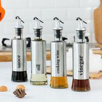 300ML Stainless Steel Oil&Sauce&Vinegar&Cookingwine Bottle Cruet Dispenser