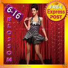 CC34 Polka Dots Moulin Rouge Burlesque Showgirl Hens Party Dress Costume Corset