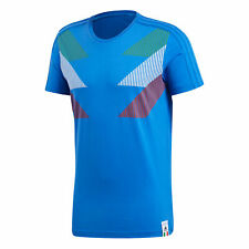 Italy Ci T Shirt Tee Top Short Sleeve Football Sports Mens adidas