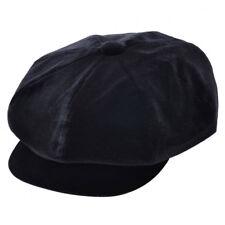 Mujer Terciopelo Dickensiano Gorra 8 Panel Gatsby Niño Papelero Boina Negro    0e3659e1f3c