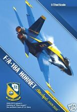 12424 Academy 1/72 Scale Plastic Model Kit F/A-18A Hornet Blue Angles Airfix New