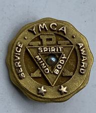 YMCA VINTAGE 10K GF SERVICE AWARD SPIRIT MIND BODY Pin Brooch