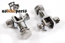Fixation repose pied chrome pour Harley Davidson et custom bikes motos neuf