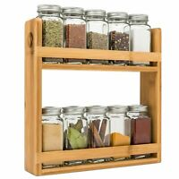 Bamboo Spice Rack Organizer by MORVAT | For Counter or Mount it on the Wall