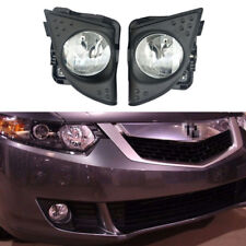 LH+RH/Set Foglight Fog Light Lamp Cover Metal For TSX 2009-2010 Without Bulbs