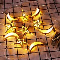 Goldener Stern Mond Dekoration Licht LED Weihnachtsbaum Laterne ogzlx