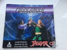 HIGHLANDER THE LAST OF THE MACLEODS ATARI JAGUAR CD - Instructions ONLY NO GAME
