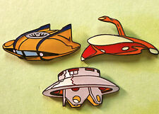 UFO WAR OF THE WORLDS F-SUB PINS SPACESHIPS OUTER SPACE VOYAGE TO BOTTOM OF SEA