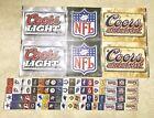 Coors Light Coors Original NFL Football Posters Cooler Ribbon - Brand New!