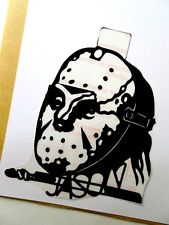 "Friday the 13th Jason art sticker decal.Horror slasher art 4""x 4½""  inches"