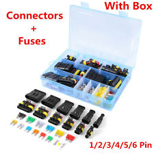 1 2 3 4 5 6 Pin Way Electrical Connector Terminal+Blade Fuses For Car Waterproof