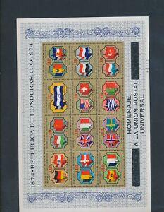 XC89866 Honduras 1974 UPU anniversary country flags XXL sheet MNH