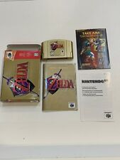 Zelda Ocarina of Time N64 Complete CIB /Manual Excellent Condition Gold Cart