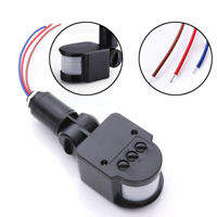 110-220V Outdoor LED Infrared PIR Motion Sensor Detector Wall Light Switch 140°