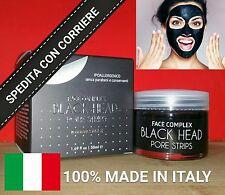 BLACK MASK HEAD MASCHERA BELLEZZA VISO PULIZIA RIMUOVE PUNTI NERI 50 ML ITALIA