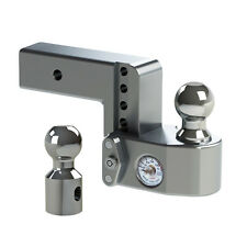 "Weigh Safe WS4-2.5 Adjustable Ball Mount 4"" Drop Hitch w/ Scale & 2.5"" Shaft"