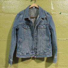 J Crew  Light Wash Blue Denim Jean  Jacket Size M made in Macao