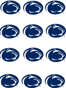 """Cake Toppers Penn State Nittany Lions Cupcake Toppers Edible 2"""" Frosting Circles"""