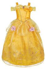 Girls Belle Princess Dress Costume Flower Butterfly Adventure Cosplay Gown Dress