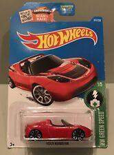 2015 Hot Wheels HW GREEN SPEED Tesla Roadster